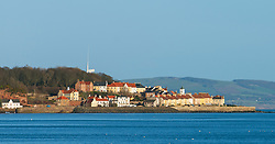 View of coastal village of West Wemyss in Fife , Scotland UK