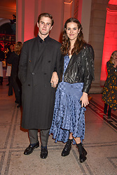 Frankie Herbert and boyfriend George Hamilton- at the Mary Quant VIP Preview at The Victoria & Albert Museum, London, England. 03 April 2019. <br /> <br /> ***For fees please contact us prior to publication***