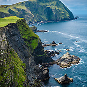 landscape view of Clare Island bay in Ireland