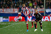 Atletico de Madrid´s /at and Bayer 04 Leverkusen´s Bellarabi during the UEFA Champions League round of 16 second leg match between Atletico de Madrid and Bayer 04 Leverkusen at Vicente Calderon stadium in Madrid, Spain. March 17, 2015. (ALTERPHOTOS/Victor Blanco)