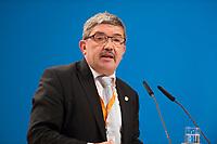 09 DEC 2014, KOELN/GERMANY:<br /> Lorenz Caffier, CDU Landesvorsitzender und Innenminister Mecklenburg-Vorpommern, haelt eine Rede, CDU Bundesparteitag, Messe Koeln<br /> IMAGE: 20141209-01-161<br /> KEYWORDS: Party Congress