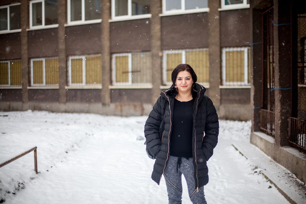 Portrait of volunteer and Roma activist Jolana Smarhovycova in Ostrava.