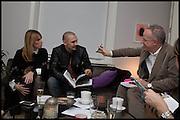 JANE SUITOR; ; JAMES FRANCO; HANS ULRICH OBRIST;James Franco exhibition 'Fat Squirrel' at Siegfried Contemporary, Basset Rd, London W10. 23 November 2014.
