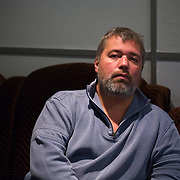 Portrait of chief editor Dmitry Muratov at the office of the Novaya Gazeta newspaper in Moscow. .Novaya Gazeta, known for its critical stance, counted among its journalists Anna Politkovskaya, shot dead in her apartment block in October 2006..Politkovskaya was one of the strongest voices against the Kremlin and its policy in Chechnya. Two other journalist at Novaya Gazeta were murdered before her.