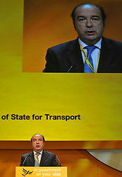 © Licensed to London News Pictures. 17/09/2011. BIRMINGHAM, UK. Norman Baker MP at the Liberal Democrat Conference at the Birmingham ICC today (19 Sept 2011): Stephen Simpson/LNP . Photo credit : Stephen Simpson/LNP