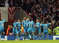 Photo: Olly Greenwood.<br />Arsenal v PSV Eindhoven. UEFA Champions League. Last 16, 2nd Leg. 07/03/2007. PSV's Alex celebrates scoring