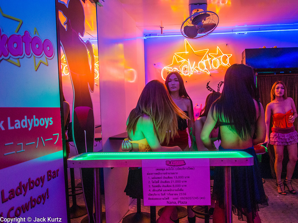20 SEPTEMBER 2013 - BANGKOK, THAILAND:  The entrance to Cockatoo, a transgendered go-go bar on Soi Cowboy in Bangkok. Soi Cowboy is one of the notorious Entertainment Districts in Bangkok. Entertainment District has emerged as euphemism for red light district. Prostitution is officially illegal in Thailand but it is widely condoned. For western men, Soi Cowboy, along with Soi Nana and Patpong are among the most well known entertainment districts in Bangkok.      PHOTO BY JACK KURTZ