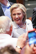 Former Secretary of State and Democratic presidential candidate Hillary Rodham Clinton greets supporters during a campaign event at Trident Tech June 17, 2015 in North Charleston, South Carolina.