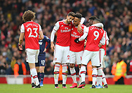 Arsenal's Alexandre Lacazette celebrates after scoring the first goal during the Premier League match at the Emirates Stadium, London. Picture date: 7th March 2020. Picture credit should read: Paul Terry/Sportimage