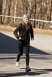 Joan Samuelson warms up