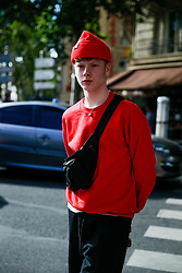 Street style, Leo Mandella arriving at Dior Spring-Summer 2019 menswear show held at Garde Republicaine, in Paris, France, on June 23rd, 2018. Photo by Marie-Paola Bertrand-Hillion/ABACAPRESS.COM