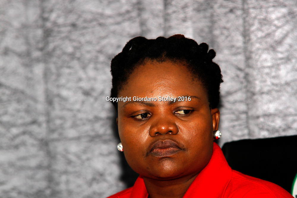 DURBAN - 30 March 2016 - Otty Sibiya, a national negoatiator of the South African Democratic Teachers Union at a press conference in Durban, where the union criticised the failure of the national education department to allow it to make submissions over allegations that some of its members were involved in a jobs-for-cash scheme. Picture: Allied Picture Press/APP