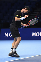 November 11, 2017 - London, United Kingdom - Andy Murray of Great Britain is pictured during a training session prior to the Nitto ATP World Tour Finals at O2 Arena, London on November 10, 2017. (Credit Image: © Alberto Pezzali/NurPhoto via ZUMA Press)