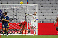 Anthony LOPES of Lyon during the French championship Ligue 1 football match between Olympique Lyonnais and Nimes Olympique on September 18, 2020 at Groupama stadium in Decines-Charpieu near Lyon, France - Photo Romain Biard / Isports / ProSportsImages / DPPI
