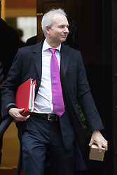 Downing Street, London, December 13th 2016. Leader of the House of Commons David Lidington leaves the weekly meeting of the cabinet at Downing Street, London.