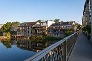 The Grand River runs through downtown Elora, Ontario, Canada