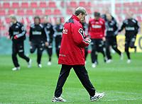 Fotball / Football<br /> Trening Norge foran Play Off mot Tsjekkia<br /> Training Norway in front of the play off match v Czech Republic<br /> Praha / Prague<br /> 15.11.2005<br /> Foto: Morten Olsen, Digitalsport<br /> <br /> Åge Hareide - coach