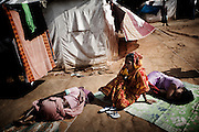 Christian refugees sleep at the Tikabali High School campus in Orissa's Kandhamal district, some 350 kms southwest of Bhubaneswar. Nov. 06, 2008.