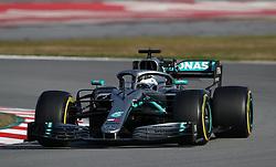 Mercedes' Valtteri Bottas during day four of pre-season testing at the Circuit de Barcelona-Catalunya.