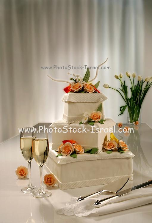 Decorated Wedding Cake