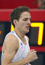 Cene Subic of Slovenia at the qualification race at 1500m men at the 2nd day of  European Athletics Indoor Championships Torino 2009 (6th - 8th March), at Oval Lingotto Stadium,  Torino, Italy, on March 6, 2009. (Photo by Vid Ponikvar / Sportida)