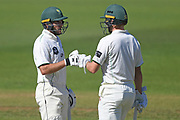 Central Stags Ben Smith and Dane Cleaver in the Plunket Shield Cricket match, Central Districts v Canterbury, McLean Park, Napier, Tuesday, April 06, 2021. Copyright photo: Kerry Marshall / www.photosport.nz