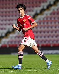 Manchester United's Zidane Iqbal during the UEFA Youth League, Group F match at Leigh Sports Village, Manchester. Picture date: Wednesday September 29, 2021.
