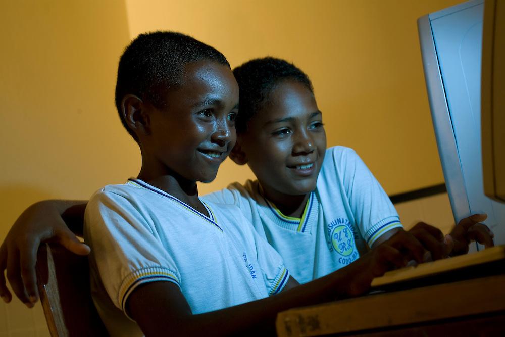 Codo_MA, Brasil...Escola Rosalina Zaidan, na Comunidade de Codo Novo...Rosalina Zaidan School, in the community Codo Novo...Foto: LEO DRUMOND /  NITRO
