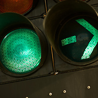 Green for go! Green traffic light and green turn signal