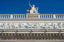 THEMENBILD - Burgtheater in Wien. Aktuell in den Medien wegen der Entlassung des Burgtheater Direktors Matthias Hartmann. Das Bild wurde am 11. Maerz 2014 aufgenommen. im Bild Aussenansicht Burgtheater Schriftzug // THEMES PICTURE - Burgtheater in Vienna, currently in news because of finance affair about director of the Burgtheater. The image was taken on march, 11th, 2014. Picture shows Burgtheater , AUT, EXPA Pictures © 2014, PhotoCredit: EXPA/ Michael Gruber