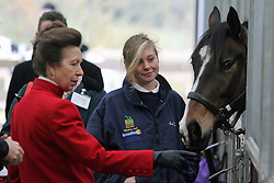 © Licensed to London News Pictures. 05/12/2013. The Princess Royal Princess Anne has attended the official opening of a new equestrian centre in the Royal Borough of Greenwich. The legacy project opened after London 2012 when Olympic equestrian events were held in the borough. The centre is on Shooter's Hill and is run by Hadlow College. Credit : Rob Powell/LNP