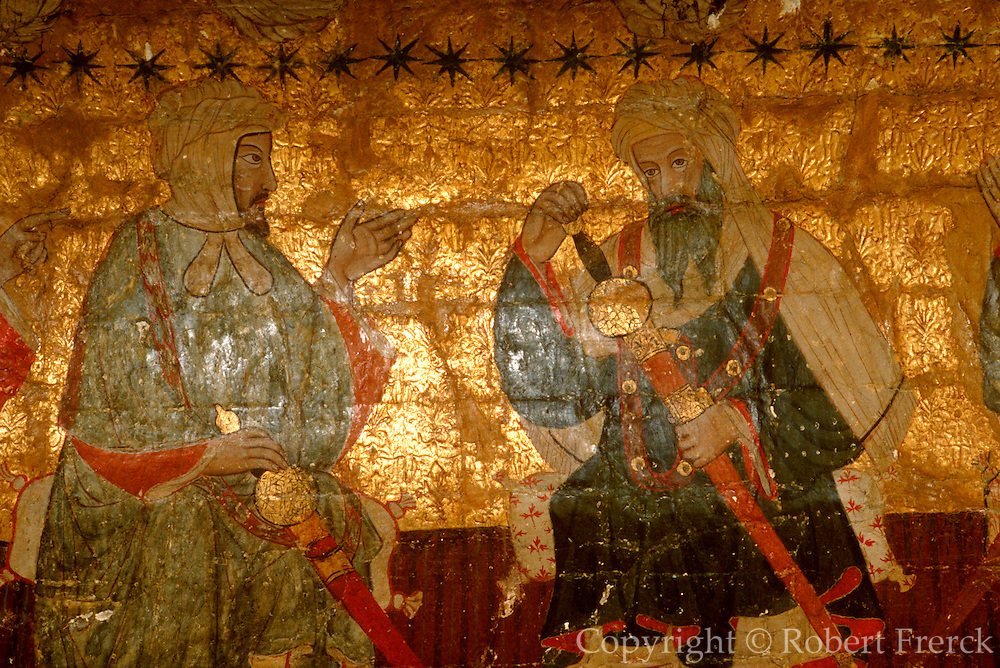 SPAIN, ANDALUSIA, GRANADA Alhambra; painting of Moorish Kings