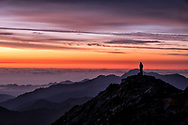 A peaceful sunrise on Taiwan's highest mountain, Yushan (Jade Mountain).