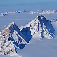 ANTARCTICA. 2525-meter Mount Zanuck in the Gothic Mountains, which are part of the Queen Maud Range, of the extensive Trans-Antarctic Mountains.