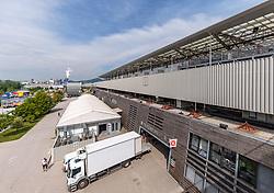 THEMENBILD - Aussenansicht der Red Bull Arena Salzburg, Stadion des FC Red Bull Salzburg, aufgenommen am 02. Mai 2018 in Salzburg, Österreich // Exterior View of the Red Bull Arena, Homestadium of FC Red Bull Salzburg in Salzburg, Austria on 2018/05/02. EXPA Pictures © 2018, PhotoCredit: EXPA/ JFK