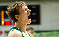 Zoran Dragic of Krka reacts during basketball match between KK Krka and Union Olimpija Ljubljana of Round 7th of ABA League 2011/2012, on November 12, 2011 in Arena Leon Stukelj, Novo mesto, Slovenia. (Photo By Vid Ponikvar / Sportida.com)