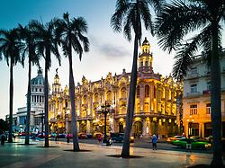 Gran Teatro de La Habana, Paseo del Prado. Havana, Cuba.