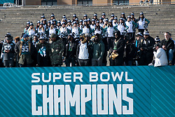February 8, 2018 - Philadelphia, Pennsylvania, U.S - Philadelphia Eagles players on the steps of the Art Museum at  the Philadelphia Eagles Super Bowl celebration in Philadelphia PA (Credit Image: © Ricky Fitchett via ZUMA Wire)
