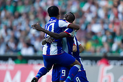 25.09.2011, Weser Stadion, Bremen, GER, 1.FBL, Werder Bremen vs Hertha BSC, im Bild.Jubel 0:1 Raffael (BSC #10) und Adrián Ramos (BSC #09).// during the Match GER, 1.FBL, Werder Bremen vs Hertha BSC on 2011/09/25,  Weser Stadion, Bremen, Germany..EXPA Pictures © 2011, PhotoCredit: EXPA/ nph/  Gumz       ****** out of GER / CRO  / BEL ******