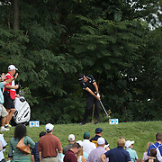 Jason Day, Australia, tees off from the second hole during the fourth round of theThe Barclays Golf Tournament at The Ridgewood Country Club, Paramus, New Jersey, USA. 24th August 2014. Photo Tim Clayton