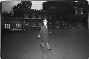 Man walking at a wedding. Glamis/weatterall wedding. St James's Palace 14.11.84© Copyright Photograph by Dafydd Jones 66 Stockwell Park Rd. London SW9 0DA Tel 020 7733 0108 www.dafjones.com