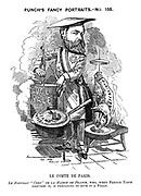 """Punch's Fancy Portraits. - No. 155. Le Comte de Paris. Le nouveau """"chef"""" de la Maison de France, who, when French taste requires it, is preparing to give it a fillip."""