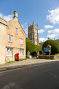 Historic buildings and church of Saint Mary the Virgin, Calne, Wiltshire, England, UK