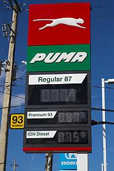 March 28, 2019 - San Juan, Puerto Rico - San Juan, Marzo 28, 2019 - MA - FOTOS para ilustrar una historia sobre la gasolina. EN LA FOTO el garaje de gasolina PUMA de la marginal de la avenida Kennedy..FOTO POR:  tonito.zayas@gfrmedia.com.Ramon '' Tonito '' Zayas / GFR Media (Credit Image: © El Nuevo Dias via ZUMA Press)