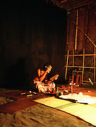 Kathakali actor in makeup - Cochin Kerala