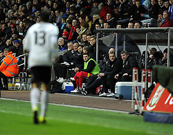 James Wilson (Bristol City) of Wales  watches from the bench - Photo mandatory by-line: Joe Meredith/JMP - Tel: Mobile: 07966 386802 06/02/2013 - SPORT - FOOTBALL - Liberty Stadium - Swansea  -  Wales V Austria - International Friendly