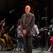 """Composer John Luther Adams on stage after the performance of """"for Lou Harrison"""" at Libbey Bowl on June 8, 2013 in Ojai, California."""