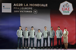 February 23, 2019 - Abu Dhabi, United Arab Emirates - AG2R La Mondiale Team from France, during the Team Presentation, at the opening ceremony of the 1st UAE Tour, inside Louvre Abu Dhabi museum..On Saturday, February 23, 2019, Abu Dhabi, United Arab Emirates. (Credit Image: © Artur Widak/NurPhoto via ZUMA Press)
