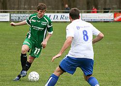 FODBOLD: Paw Bendixen (Helsingør) under kampen i Kvalifikationsrækken, pulje 1, mellem Rishøj Boldklub og Elite 3000 Helsingør den 9. april 2007 på Rishøj Stadion. Foto: Claus Birch