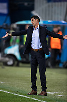 ST PETERSBURG, RUSSIA – NOVEMBER 23, 2017. UEFA Europa League Group L Round 5 football match at Saint Petersburg Stadium. Zenit St Petersburg 2 -1 FK Vardar. FK Vardar's manager Cedomir Janevski.